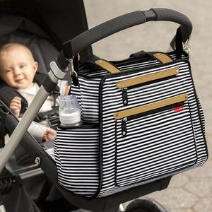 Skip Hop striped baby big diaper  bag
